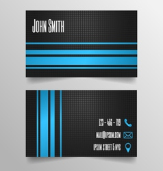 Business card template - modern blue and grey vector
