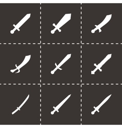 Sword icon set vector