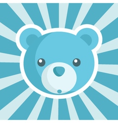 Baby shower bear icon vector
