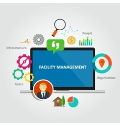 Facility management facilities building vector