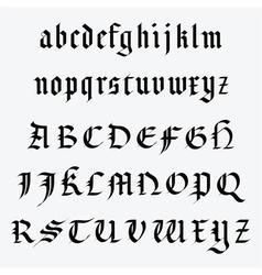 Medieval alphabet vector