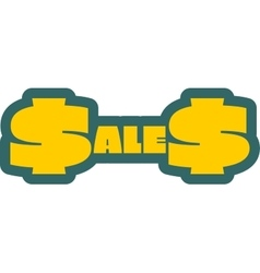 Sales outline yellow sticker vector