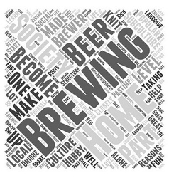 A Brewing Society Word Cloud Concept vector image
