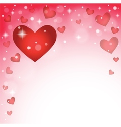abstract background to the Valentine s day vector image