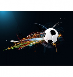 abstract football vector image vector image