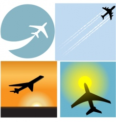 airline travel passenger vector image vector image