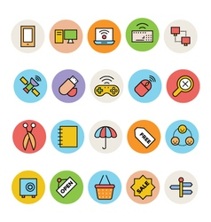 Basic colored icons 11 vector