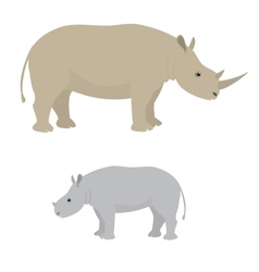 Big and little rhino vector image vector image