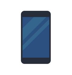 Black smartphone display blue device vector