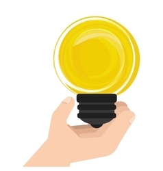 Bulb light ecology icon vector