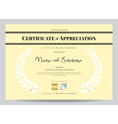 Certificate of appreciation template with movie vector