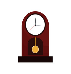 clock time watch pendulum vector image