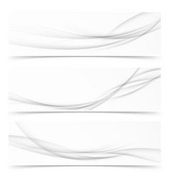 Collection of three minimalistic grayscale soft vector