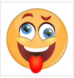 Crazy Emoticon vector image vector image