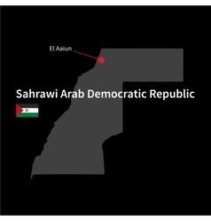 Detailed map of Sahrawi Arab Democratic Republic vector image