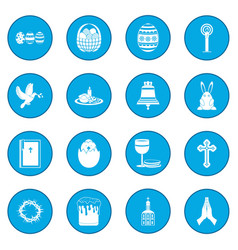 easter black icon blue vector image vector image