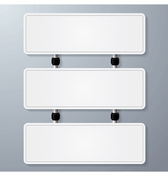 empty sign paper vector image vector image