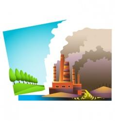 environmental split vector image