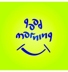 Good morning text vector