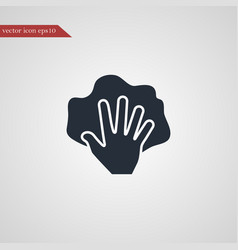 hand with rag icon simple vector image vector image