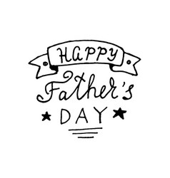 Happy fathers day lettering design vector