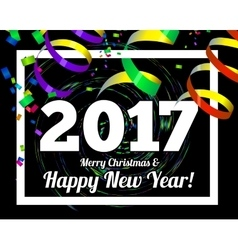 Happy new year 2017 on a background of confetti vector