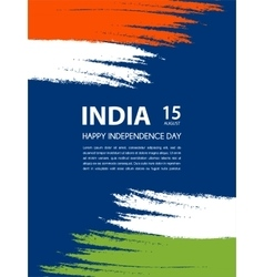 Indian independence day 15th of august vector