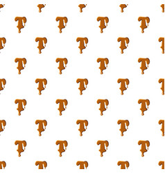 Letter t from caramel pattern vector