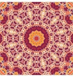 Mandala tile seamless ornamental symmetry pattern vector