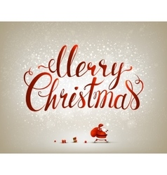 Merry Christmas inscription on the festive vector image vector image