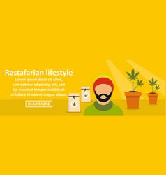 rastafarian lifestyle banner horizontal concept vector image