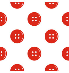 Red sewing button pattern flat vector