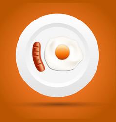 scrambled egg in a bowl vector image vector image