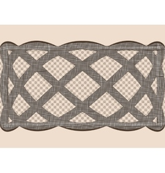 Seamless lace dark ribbon vector