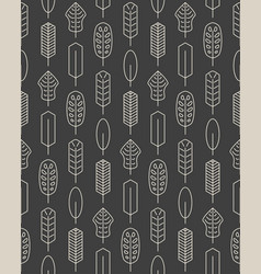 seamless pattern made of minimalistic linear palm vector image vector image