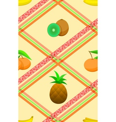 Seamless pattern with ripe tropical fruits vector image