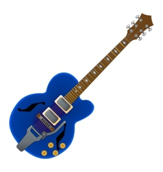 Semi acoustic guitar vector image vector image
