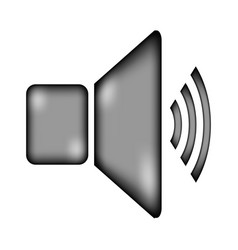 speaker volume icon sign vector image