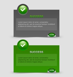 Success notification windows vector image vector image