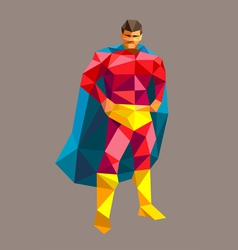 Superhero low polygon style vector