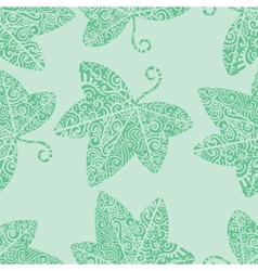 Tribal tattoo Ivy leaf vector image vector image