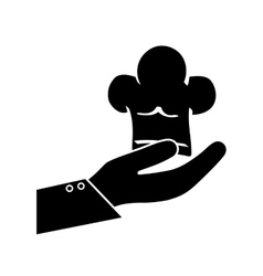 Waiter hand symbol vector image