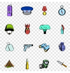 War set icons vector image