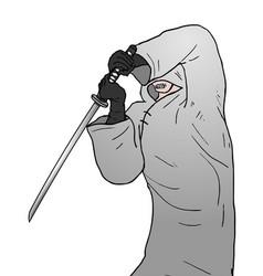 warrior with sword vector image