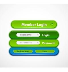 web login form vector image vector image