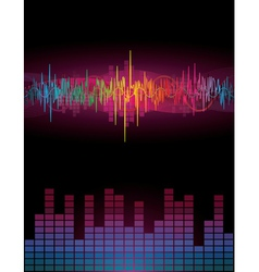 Rainbow sound waves vector