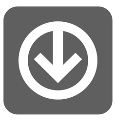 Direction down flat squared icon vector