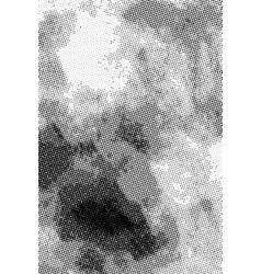Vintage grunge halftone ink print vertical vector