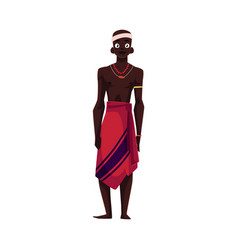 Native aborigine from african tribe in loincloth vector