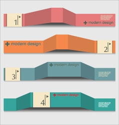 Modern design template vector